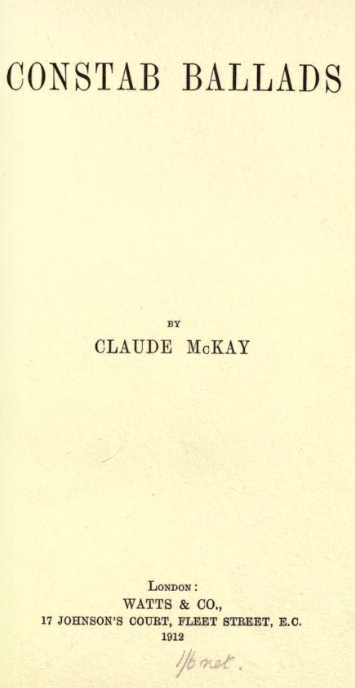 a paper on claude mckays novel harlem shadows Harlem shadows analysis - free download as word doc (doc), pdf file (pdf),   bad feminist: essays  the sympathizer: a novel (pulitzer prize for fiction)   mckay lets you come to your own conclusion about why/how girls were forced to .
